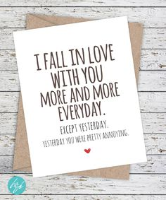 Funny Love Card by FlairandPaper on Etsy