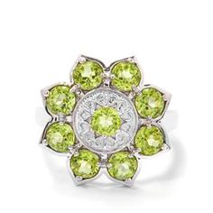 Changbai Peridot Ring in Sterling Silver