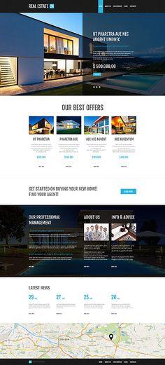 Diseño #53001 para #WordPress #Inmuebles $68 en http://www.mihostcgi.com/temas-para-wordpress/