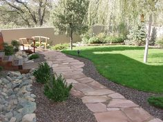 Garden & Landscaping: Long Lasting Stone Walkways Ideas Toward Exciting Outdoor Living Space — buloffers