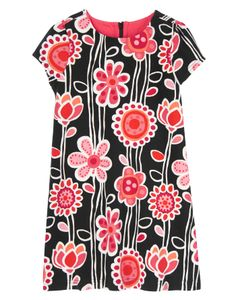 Chic floral print on super soft ponte makes our dress extra fun to wear.