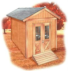 8 X12 SHED This 8 × 12-ft. shed features a simple gable roof, double doors, and side and rear windows for natural lighting. With full-height walls and doors, there's ample room for storing large items or creating a comfortable work space. An optional wood ramp helps in moving lawn mowers and other heavy equipment. The …