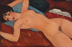 Amedeo Modigliani, Nu couché (Nudo disteso), 1917-18.