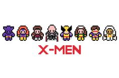 XMen Marvel Cross Stitch Pattern PDF by XStitchMyHeart on Etsy, £2.50 Marvel Cross Stitch, Geek Cross Stitch, Small Cross Stitch, Cross Stitch Charts, Cross Stitch Designs, Cross Stitch Patterns, Perler Beads, Perler Bead Art, Geek Crafts