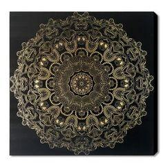 World Menagerie Paisley Mandala Graphic Art on Plaque