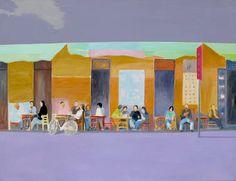"Saatchi Art Artist Wojtek Herman; Painting, ""Cafe Alchemia"" #art"