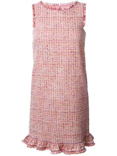 Boutique Moschino frayed tweed dress More