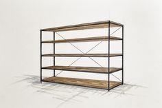 Handcrafted bespoke wooden bookshelf/book case with metal construction. Wooden book shelfs. Modern, rustic, industrial furnitures.
