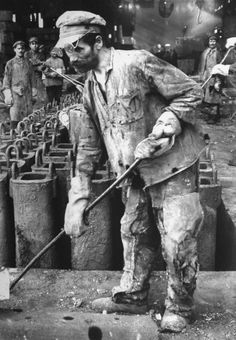 Margaret Bourke-White Russian iron worker, Stalingrad, 1930.