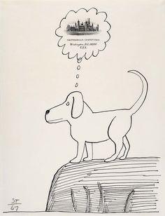Illustration by Saul Steinberg (1967)