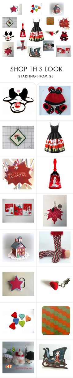 """""""Christmas cheer"""" by einder ❤ liked on Polyvore featuring interior, interiors, interior design, home, home decor, interior decorating and Fenton"""