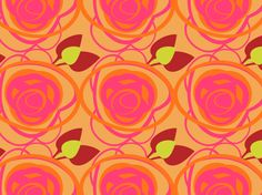 """TANGERINE ROSIE"" by clairyfairy. Bedding in organic cottons. Cushions in linens. Upholstery in heavy duty twill."