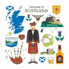 Travel Concept Country Landmark 02 B (Welcome To Scotland) . Buy any Canvas Art Print,Framed Art,Poster and Photo Print at Great Prices, Retail and Wholesale Satisfaction Manufacturer and Supplier. Scotland Map, Scotland Travel, Scotland Symbols, Canvas Art Prints, Wall Prints, Poster Prints, Scottish Symbols, Travel Clipart, Pictorial Maps