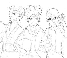 #teamseven Boruto Naruto Next Generations, Fandom, Manga, Drawings, Anime, Art, Team 7, Places, Art Background
