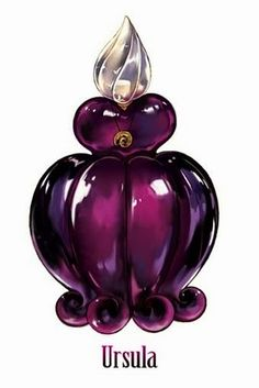 """Wickedly Beautiful Perfume Bottle Inspired By Iconic Disney Villain Ursula from """"The Little Mermaid"""". Perfumes Vintage, Vintage Perfume Bottles, Disney Magic, Disney Art, Ursula Disney, Mermaid Disney, Walt Disney, Disney Movies, Ariel"""