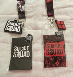 Today's nerd bundle features two officially licensed lanyards. There is one Suicide Squad Joker Lanyard and one Suicide Squad Harley Quinn Lanyard Features: - Rubber logo charm - Breakaway safety clas