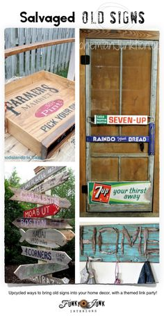 If you love salvaged old signs, you will ADORE this collection of over 75 inspiring examples. Includes a guide on where to find like minded stencils, etc.