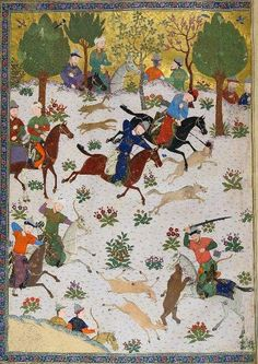 f4r Frontispiece. Timurid Soldiers from Baysunghur's Shahnama - 1430
