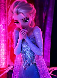 Elsa: All I was trying to do, Was hide from myself. I feel bad for her! Shes all, Well, Scared and she can't control!