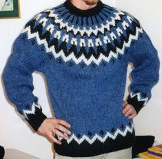 LOPI pullover | by Mytwist Sweater Cardigan, Men Sweater, Icelandic Sweaters, Knitting Stiches, Fair Isle Pattern, Knitting Designs, Jumpers, Knitwear, Knit Crochet