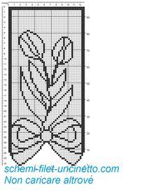 Tenda con fiocco e tulipani schema filet gratis 1