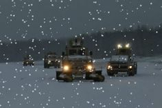 Combat Engineers Conducting Winter Route Clearance Training
