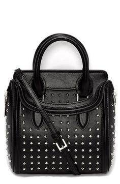 Totes & Bags| Serafini Amelia| Alexander McQueen 'Heroine - Mini' Studded Calfskin Crossbody Bag available at #Nordstrom