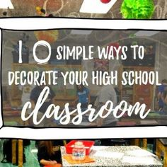 10 Simple ways to decorate your high school classroom. Classroom Decoration Ideas For Primary School High School Chemistry, High School Science, Business Education Classroom, Math Education, Elementary Education, High School Health, Middle School Classroom, Primary School, Classroom Ideas