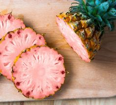 Pink Pineapple Is the New Square Watermelon Fruit Rose, Pink Fruit, New Fruit, Summer Fruit, Fruit And Veg, Exotic Fruit, Pink Summer, Rosa Snacks, Pink Snacks