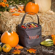 The Littles Carry-All Caddy is perfect as a trick-or-treat bag or storing candy in your entryway!