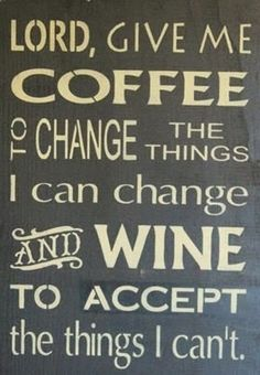 cute sign! (come to think of it... he has an auto order for BOTH coffee AND wine!!?)