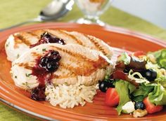 Blueberry Chutney Turkey, Berry Bright Salad, and Fruit Crunch Parfaits - Publix Aprons Simple Meals Publix Aprons Recipes, Spring Mix Salad, Parfait Recipes, Fruit Snacks, Recipe Details, Salad Ingredients, Turkey Recipes, Grilling Recipes