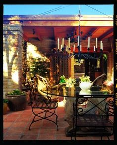 no place like home / Outdoor chandeliers just love!