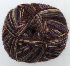 Hot Socks Stripes 4-fach superwash - Brown with crazy purple stripes 1661-614, 75% Merino superwash by ColorfullmadeShop on Etsy