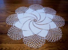 FullBlown Rose Crocheted Doily by AngpangeCrochets on Etsy, $22.00