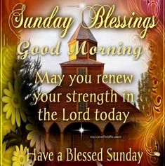 Sunday blessings - May you renew your strength in the Lord today! Description from pinterest.com. I searched for this on bing.com/images