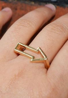 Discover ASOS Marketplace for the best vintage clothing, indie labels and individual sellers. Arrow Ring, Gold Colour, Color, Vintage Outfits, Silver Rings, Shopping, Jewelry, Women, Rings