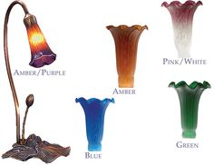 Meyda Tiffany Lilies 1 Light Desk Lamp - MEY-LILIES-DESK-1 Or maybe this for office