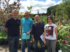 Mark, Michael, Nigel Dunnet and Catherine after having browsed the nursery for their Greening Grey Britain garden.