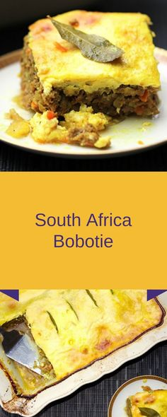 Bobotie originated in the Cloak Asian group on the western ground of Southerly Continent. In 1652 Country ships brought slaves from south C. World's Best Food, Good Food, Yummy Food, Bobotie Recipe South Africa, Great Recipes, Favorite Recipes, Delicious Recipes, Vegetarian Ketogenic Diet