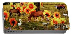 Portable Battery Charger featuring the photograph Fantasy Farm by Judi Saunders.