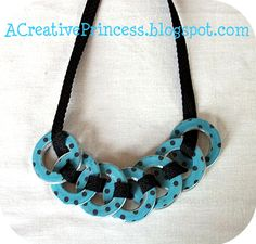 Ribbon Washer Necklace.  Tutorial is on another blog (link is supplied), but I liked the colors in this one.
