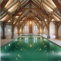 Aisled oak framed pool.
