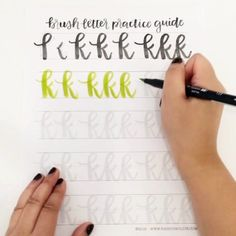 Want to get better at brush lettering? Get practicing with this guide! http://shop.randomolive.com/brushpractice?utm_content=bufferb8f6c&utm_medium=social&utm_source=pinterest.com&utm_campaign=buffer. #brushlettering