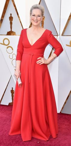 'Hollywood has traditionally been mercilessly harsh to its older actresses. But those days are long gone,' writes Sarah Vine, as a parade of stunning walked the Oscars red carpet. Older Actresses, Elegant Dresses, Formal Dresses, Hollywood Red Carpet, Celebrity Red Carpet, Gowns, Celebrities, Meryl Streep, How To Wear