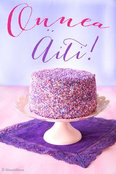 nonparelli-kakku 7th Birthday, Sweets, Baking, Desserts, Food, Decor, Cakes, Tailgate Desserts, Deserts