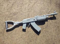 The Assault Rifle AK-47 gun replica from RUST is 3d printed on high quality printer in highest resolution. Item in top condition, brand new! Material is gray PLA and it looks gorgeous! Just apply primer and models is ready to paint. Can't miss in the collection of every true game. #RUST #AK47 #AK-47