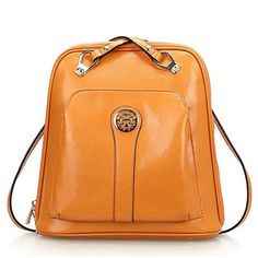 OMEN LADIES GIRLS FASHION CROSS BODY SHOULDER HANDBAG BACKPACK COW LEATHER ( YELLOW ) - Click image twice for more info - See a larger selection of Girls teen  backpacks at http://kidsbackpackstore.com/product-category/teen-girls-backpacks/ - kids, juniors, back to school, kids fashion ideas, teens fashion ideas,  school supplies, backpack, bag , teenagers,  boys, gift ideas
