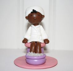 Spa Birthday Party Cake Topper  Manicure, $20.00