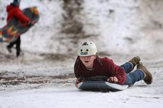 Crazy weather out West: Grand Canyon blanketed in snow, Las Vegas cold Nature Scenes, Sled, Grand Canyon, Las Vegas, National Parks, Weather, Children, Lead Sled, Young Children